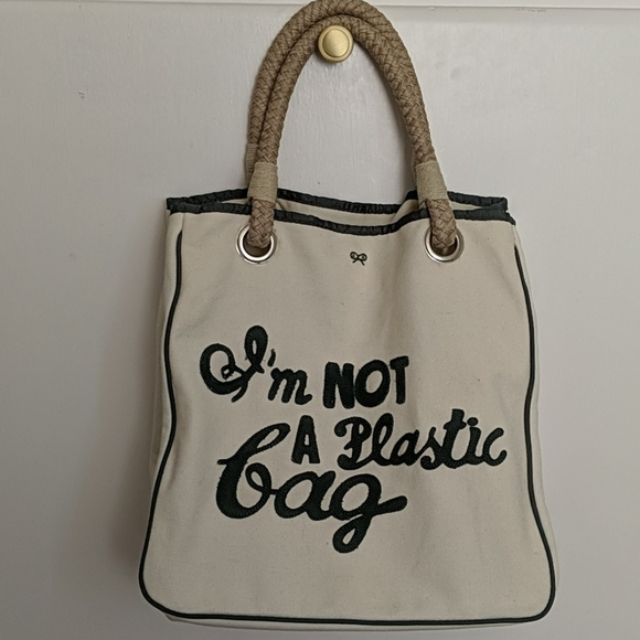 I'm not a plastic bag by Anya Hindmarch NWT